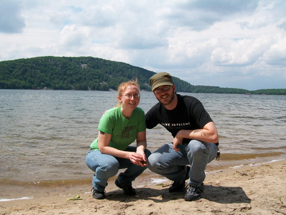 Your host and his partner in crime at Devil's Lake, Wisconsin.