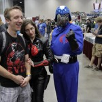 The Baroness and Cobra Commander with a very nervous con-goer.