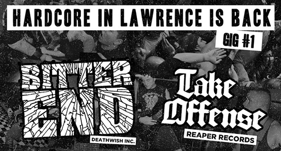 bitter end take offense poster header