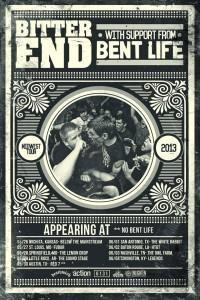 bitter end tour poster