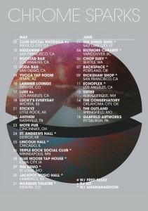 chrome sparks tour poster