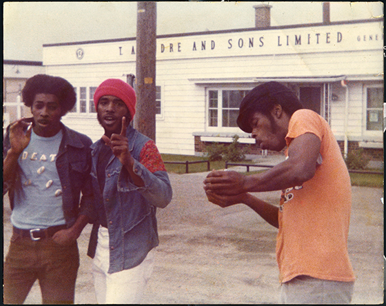Death band members and brothers, David Hackney, Bobby Hackney Sr and Dannis Hackney from A Band Called Death. Courtesy of Drafthouse Films