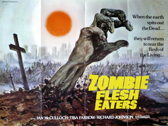 poster - zombie flesh eaters