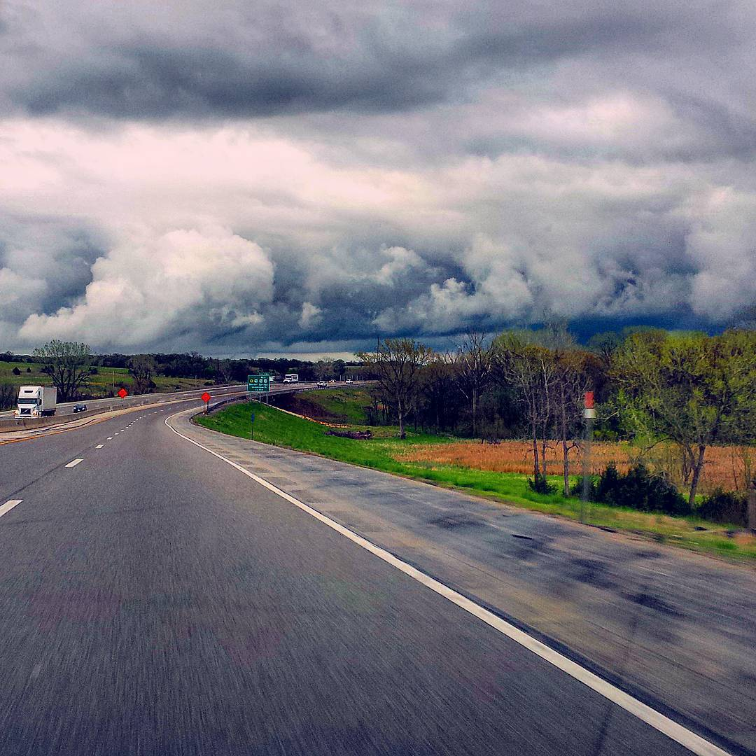 stormy road instagram